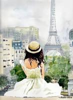 Poranek w Paryzu by chatte-bleu