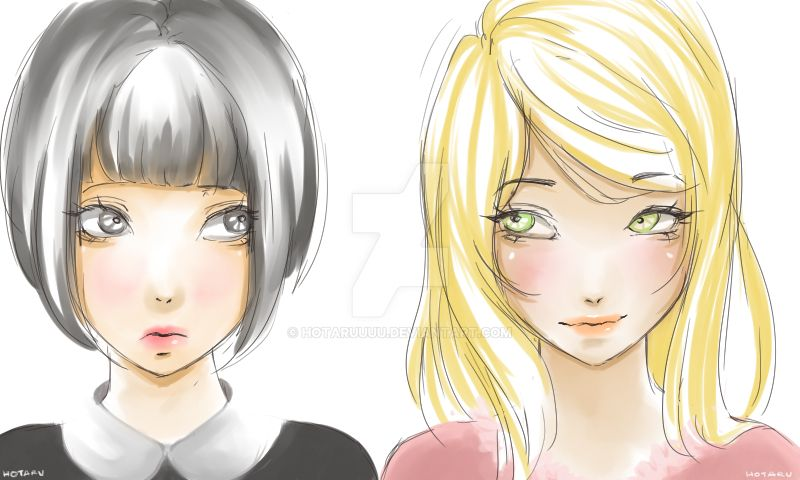 My version of Agatha and Sophie by Hotaruuuu