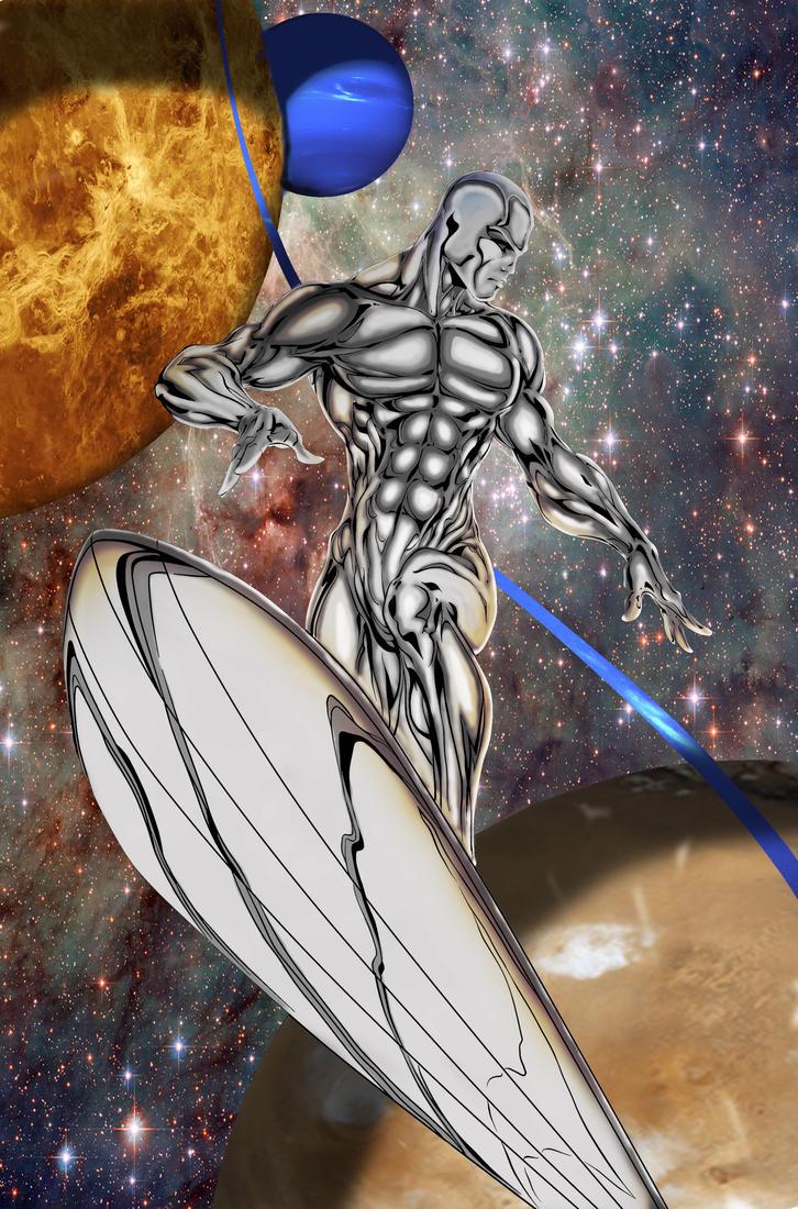 Silver Surfer Ink Color Swave by pma27