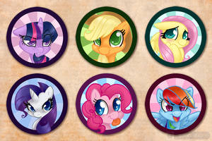 Pony Buttons by gabapple