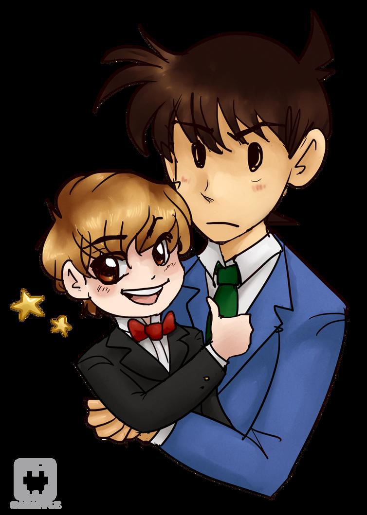 Ickleba and Shinichi by gabapple