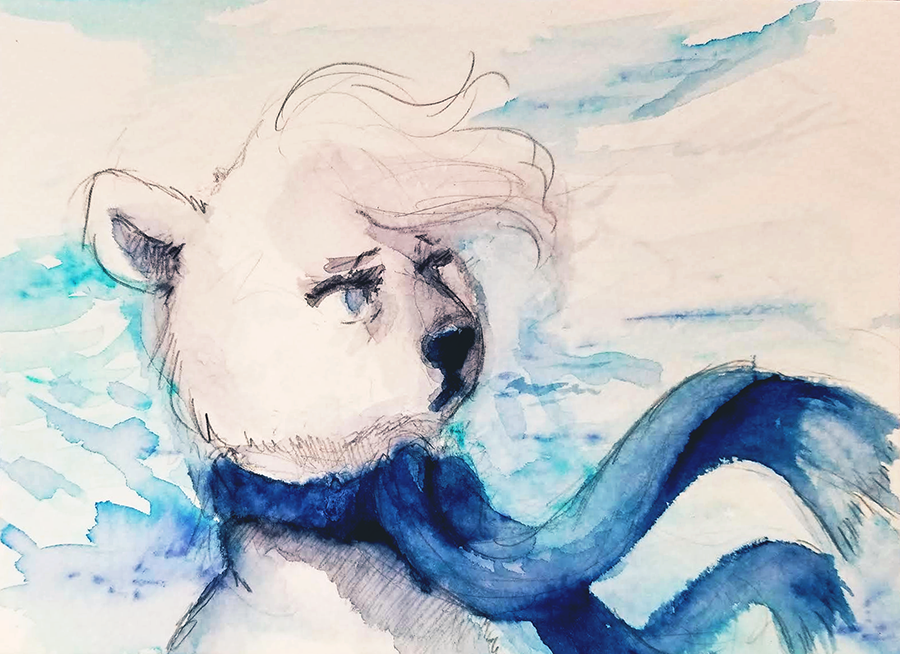 Ice Adolescence - Polar Bear Version by gabapple