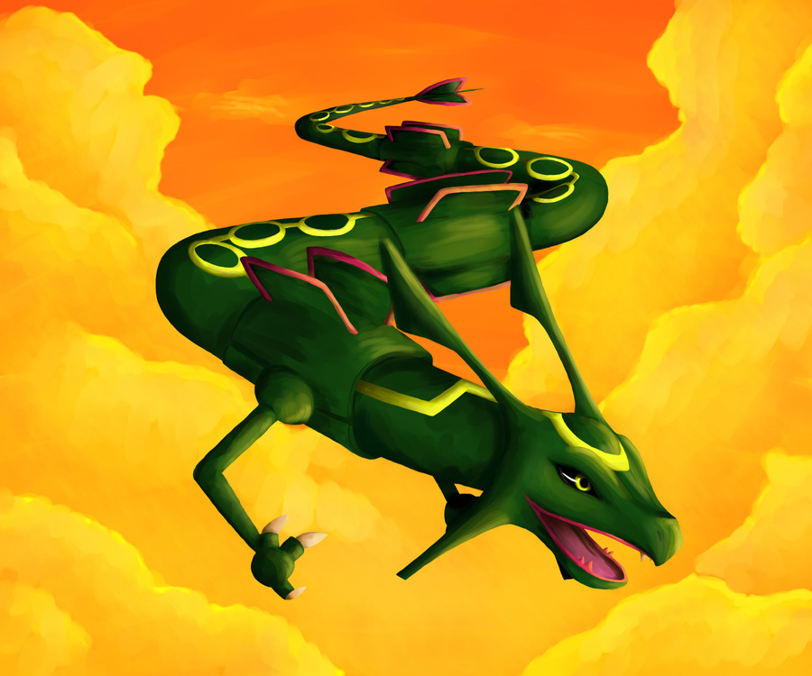 rayquaza by argenteus-lupus