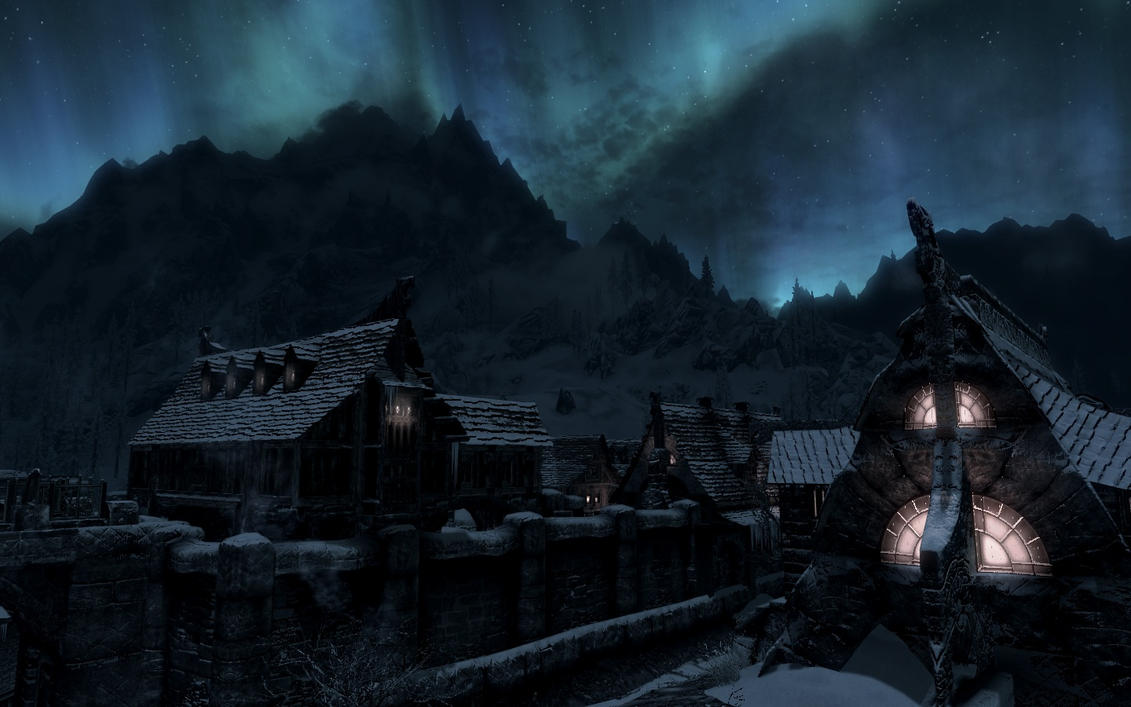 The peaceful facet of Windhelm by TheSpiritOfTheWoods
