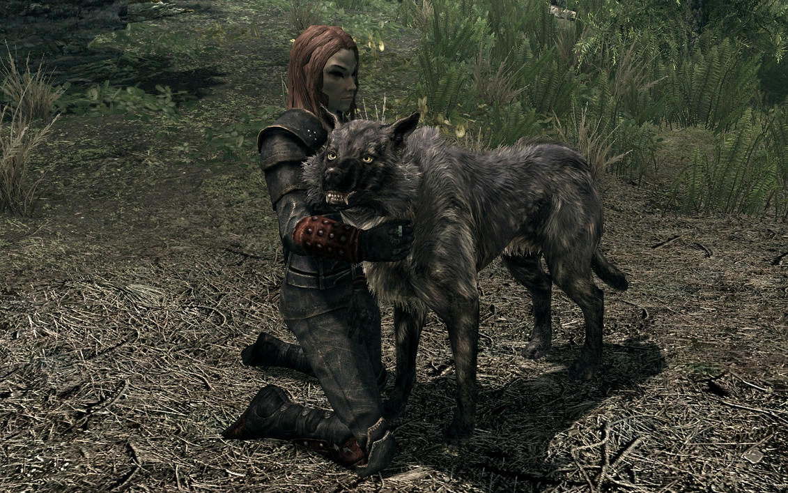 A Bosmer's best friend by TheSpiritOfTheWoods