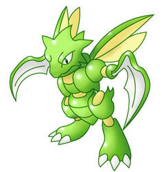 RS pose Scyther by antialiasis
