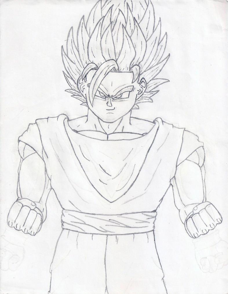 Goku SSJ2 Sketch by Gokuevp on DeviantArt
