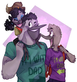 Sabrewing Family - DuckTales
