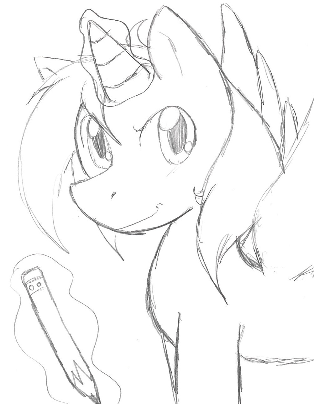 Sketch The Pony by LarryKitty