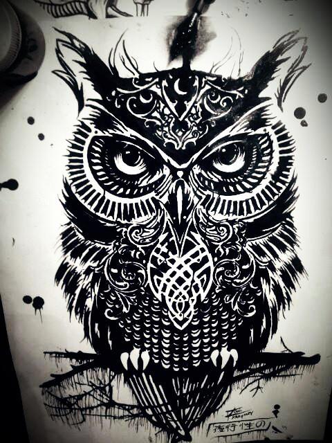 Rachel Caldwells 'Warrior Owl' by Tom Yakovlev