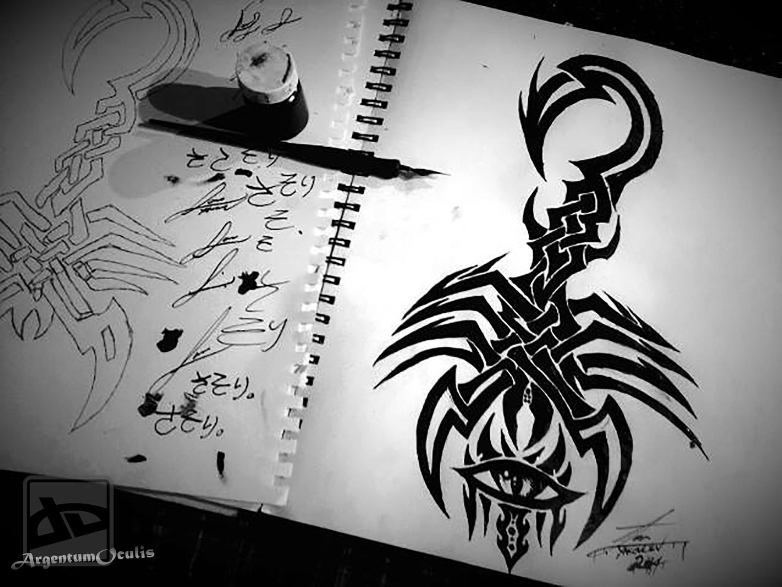alien scorpion tribal tattoo concept by inkedonyx on deviantart. Black Bedroom Furniture Sets. Home Design Ideas
