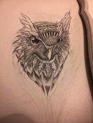 Owl Wall Sketch by Tom Yakovlev