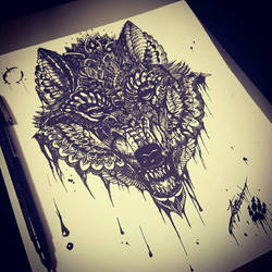Wolf in Ink