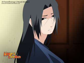 itachi's long hair by annria2002