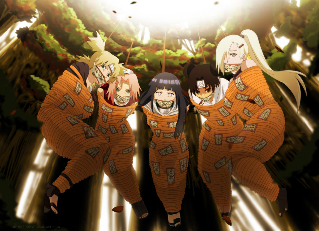 Commission: Naruto girls by annria2002