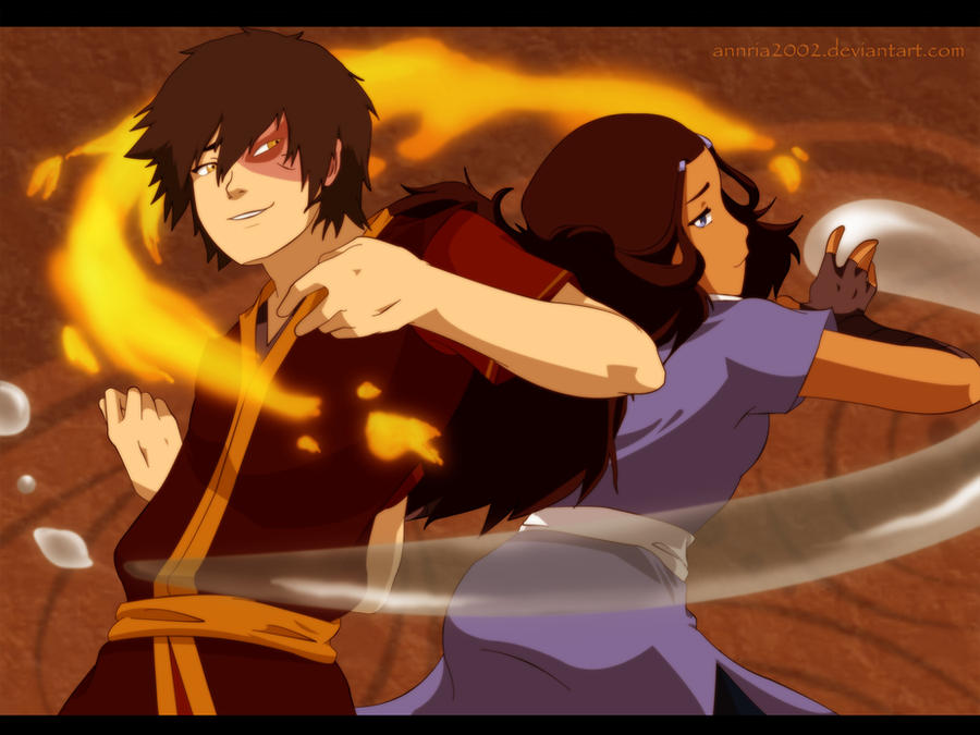 AT: Zuko and Katara by annria2002
