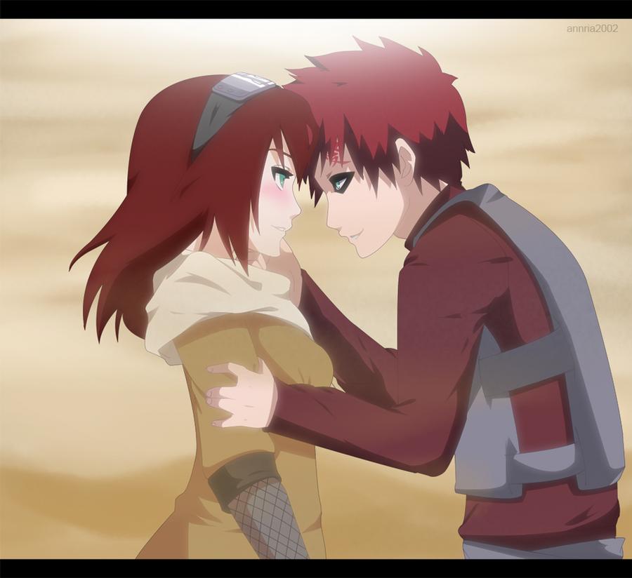 Commission: Gaara and Kasumi by annria2002 on DeviantArt Gaara And Matsuri Kiss
