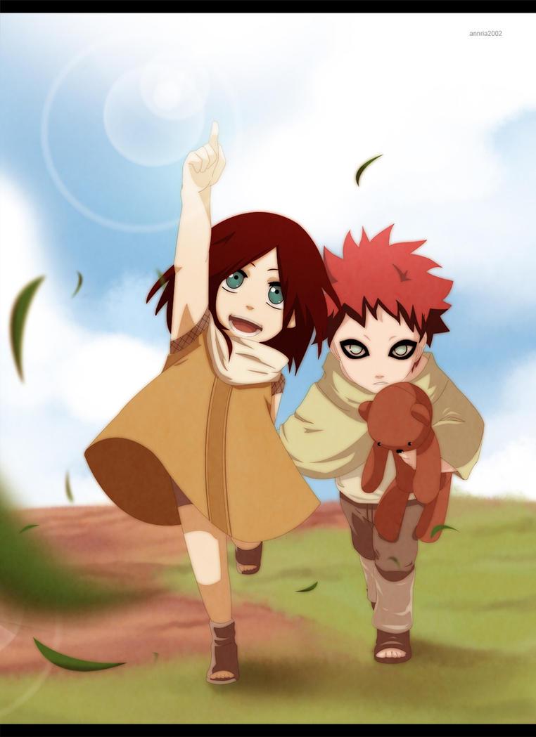 Gaara and Kasumi as kids by annria2002 on DeviantArt Gaara And Naruto Kids