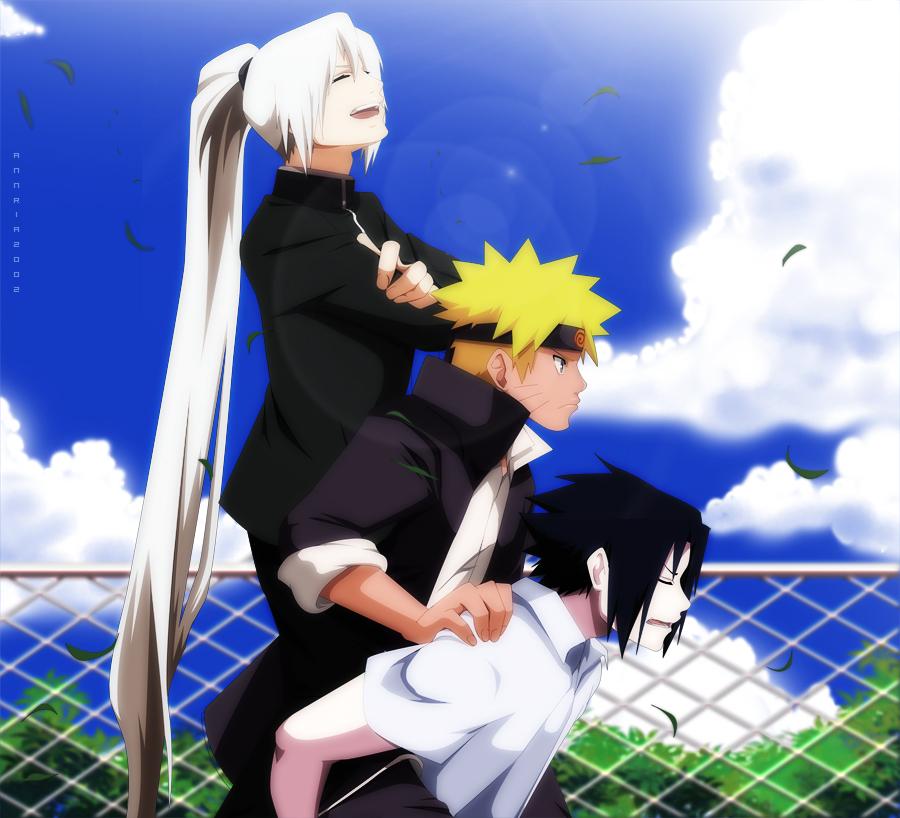 TPS: Naruto Sasuke and Shinya by annria2002