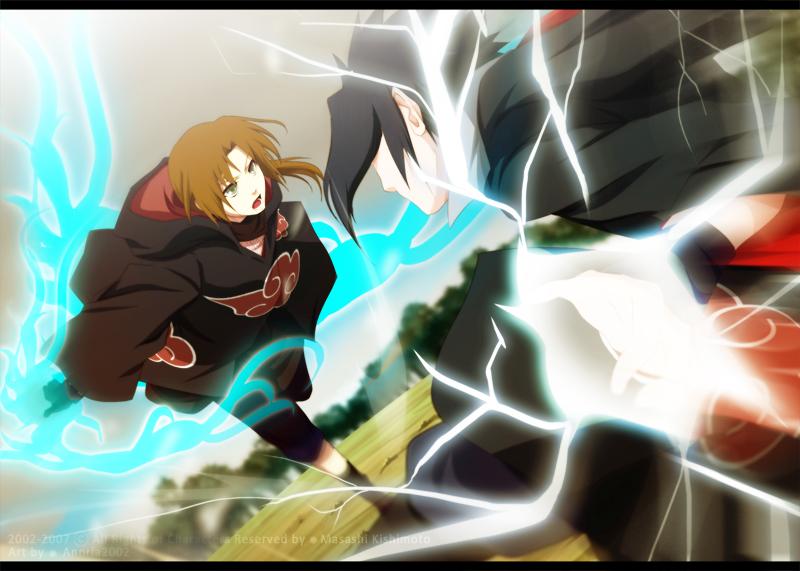 Akio VS Sasuke by annria2002