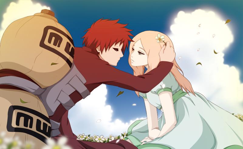 Gaara and Satomi by annria2002