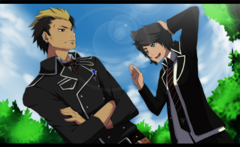 Ao no Exorcist:Tomo and Ryuji by annria2002