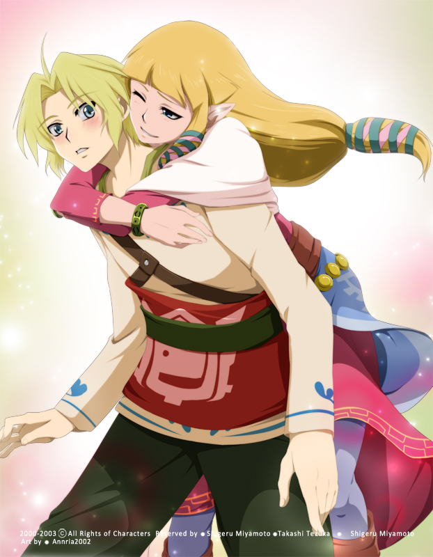 ZeLink: Glomp by annria2002 on DeviantArt Zelink Skyward Sword