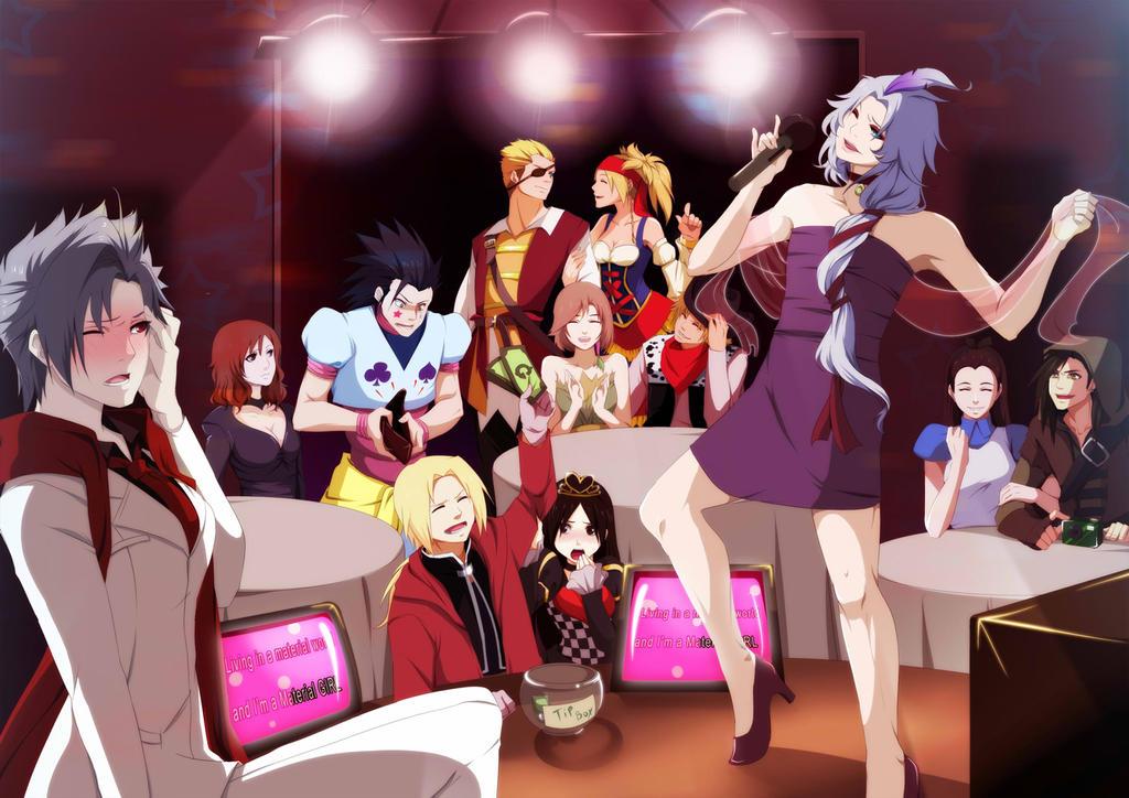 Hallow's Karaoke Night by annria2002