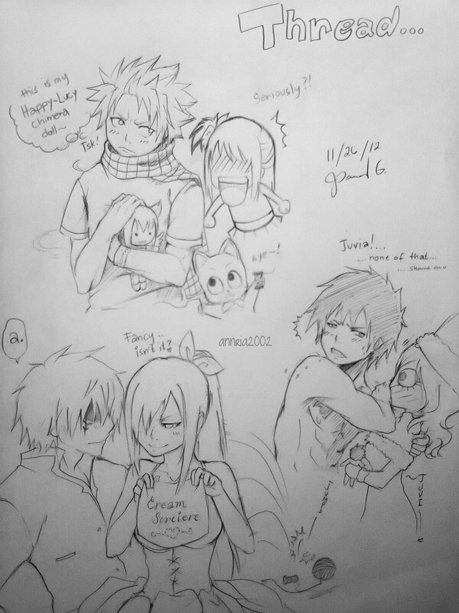 Fairytail sketchesasda by annria2002