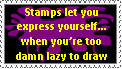 Lazy Stamp by crimson-stardust
