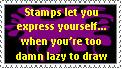 Lazy Stamp by crimson-stardust