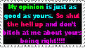 Different Opinions Stamp