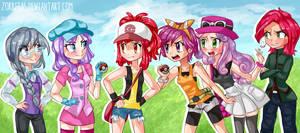 COMMISSION: CMC Pokemon Trainers!