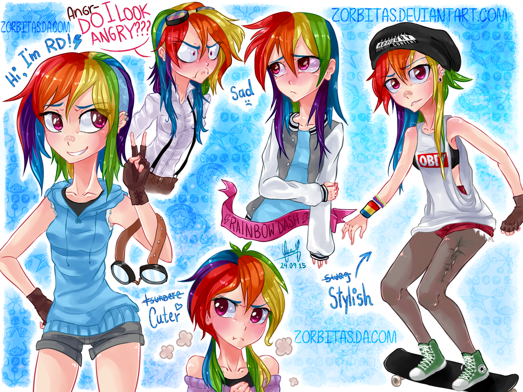 humanrainbowdashthing by zorbitas on deviantart
