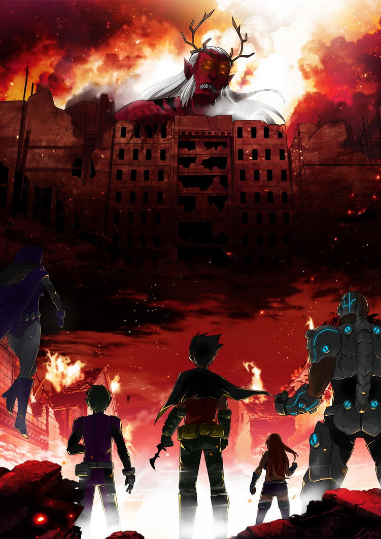 Attack on Teen Titan by Exaxuxer
