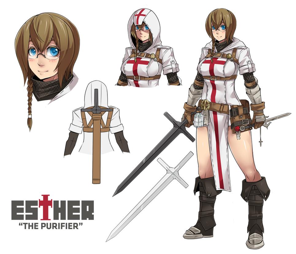 Esther The Templar by Exaxuxer