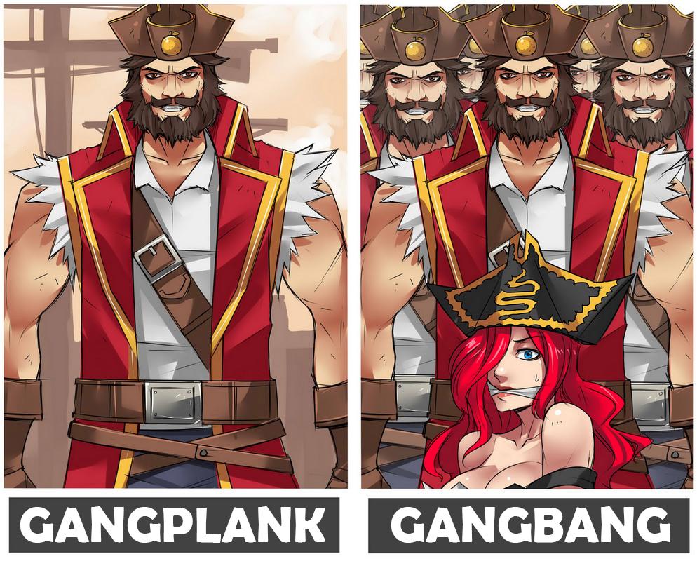 Miss gang bang