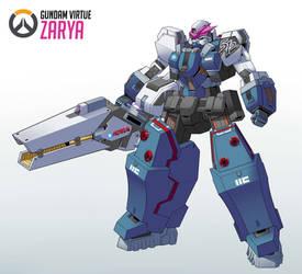 Gundam Zarya by Exaxuxer