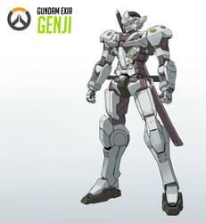 Gundam Genji by Exaxuxer