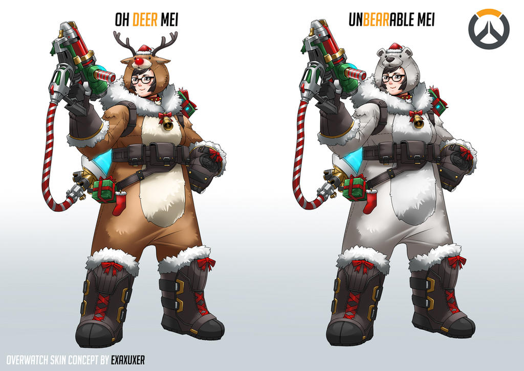 Mei christmas skin concept. by Exaxuxer on DeviantArt