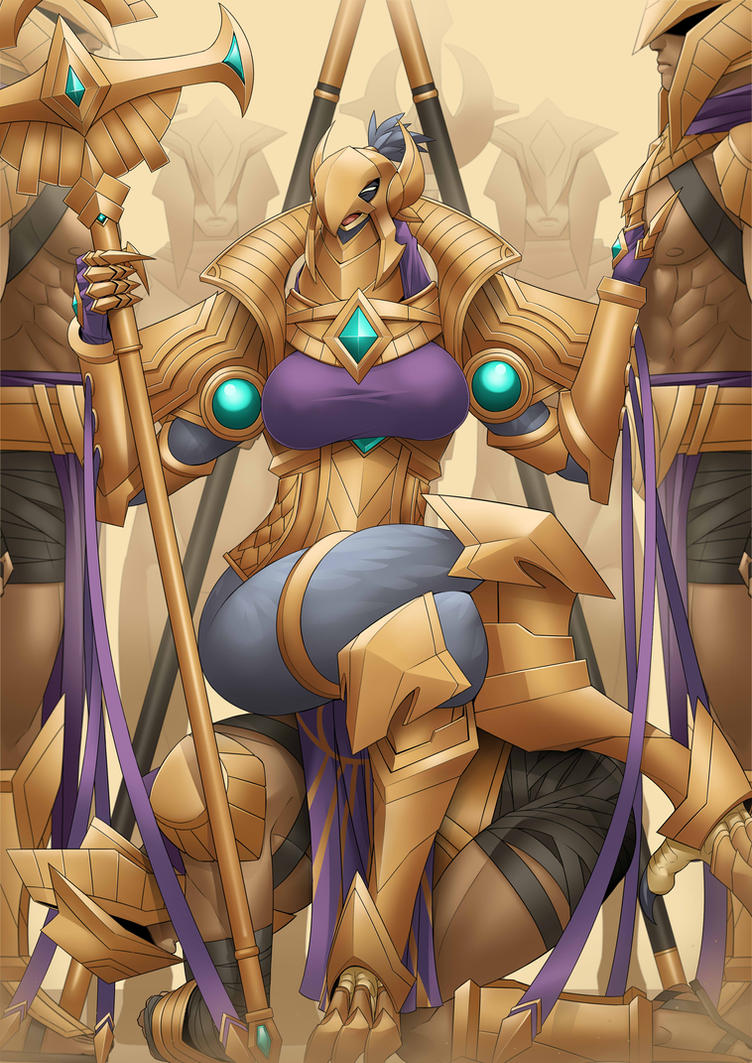 Azir The Empress of the sands by Exaxuxer