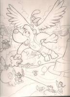Banjo-Kazooie Sketch by mattdog1000000