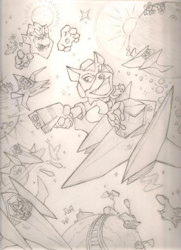 Starfox 64 sketch by mattdog1000000