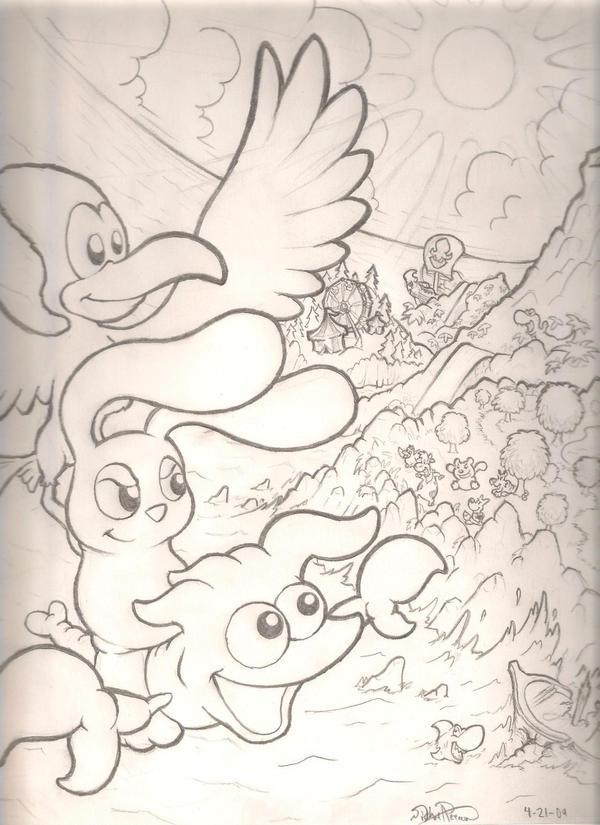 Bummy Attack sketch by mattdog1000000