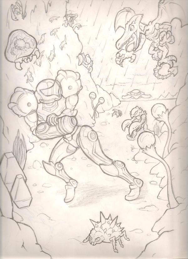 Metroid sketch by mattdog1000000