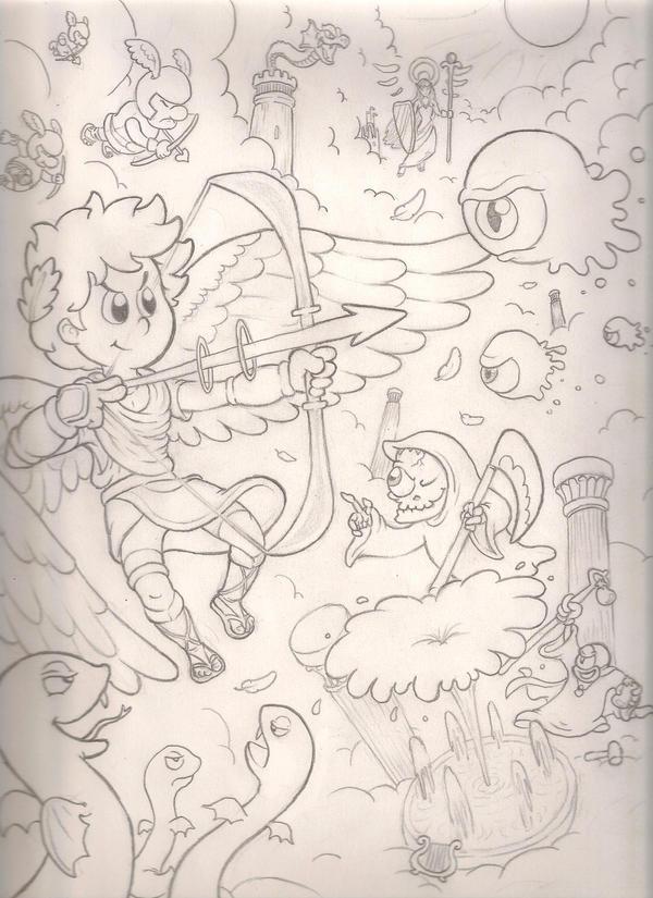 Kid Icarus sketch by mattdog1000000