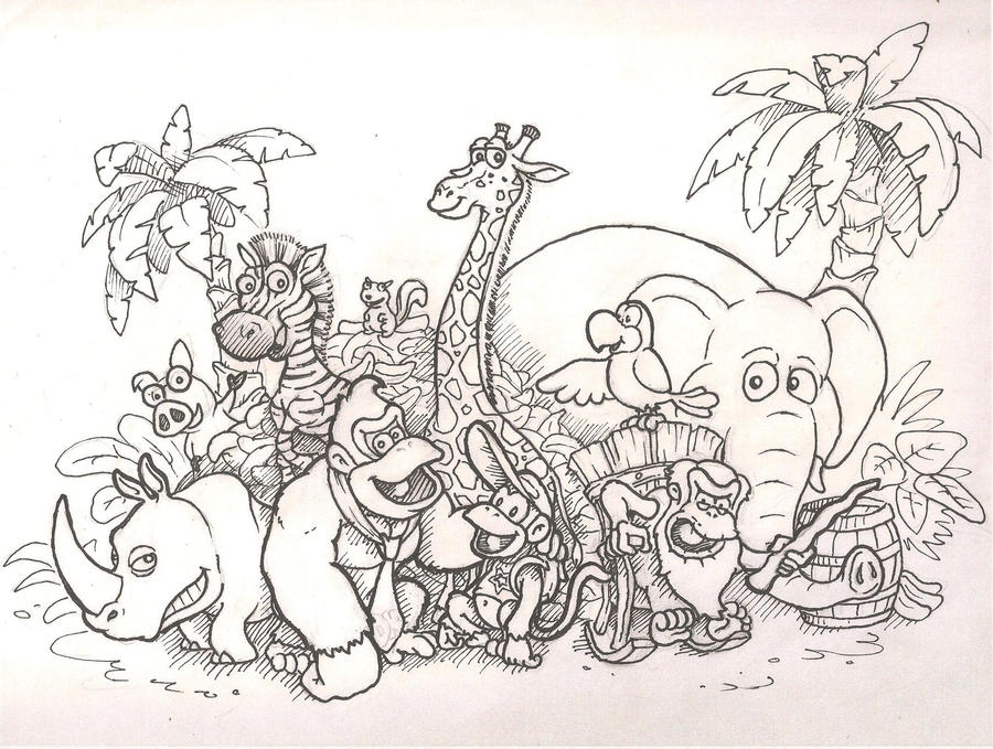 donkey kong country returns pen by mattdog1000000 on deviantart