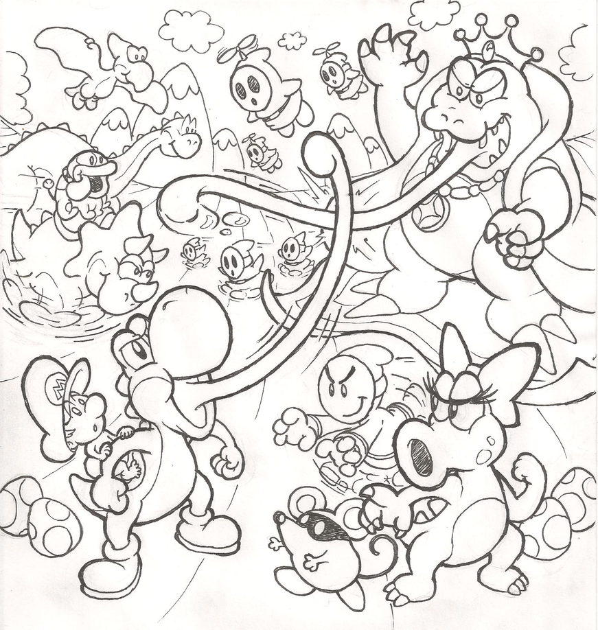 Yoshi 39 s island dream sequel by mattdog1000000 on deviantart for Coloring pages yoshi