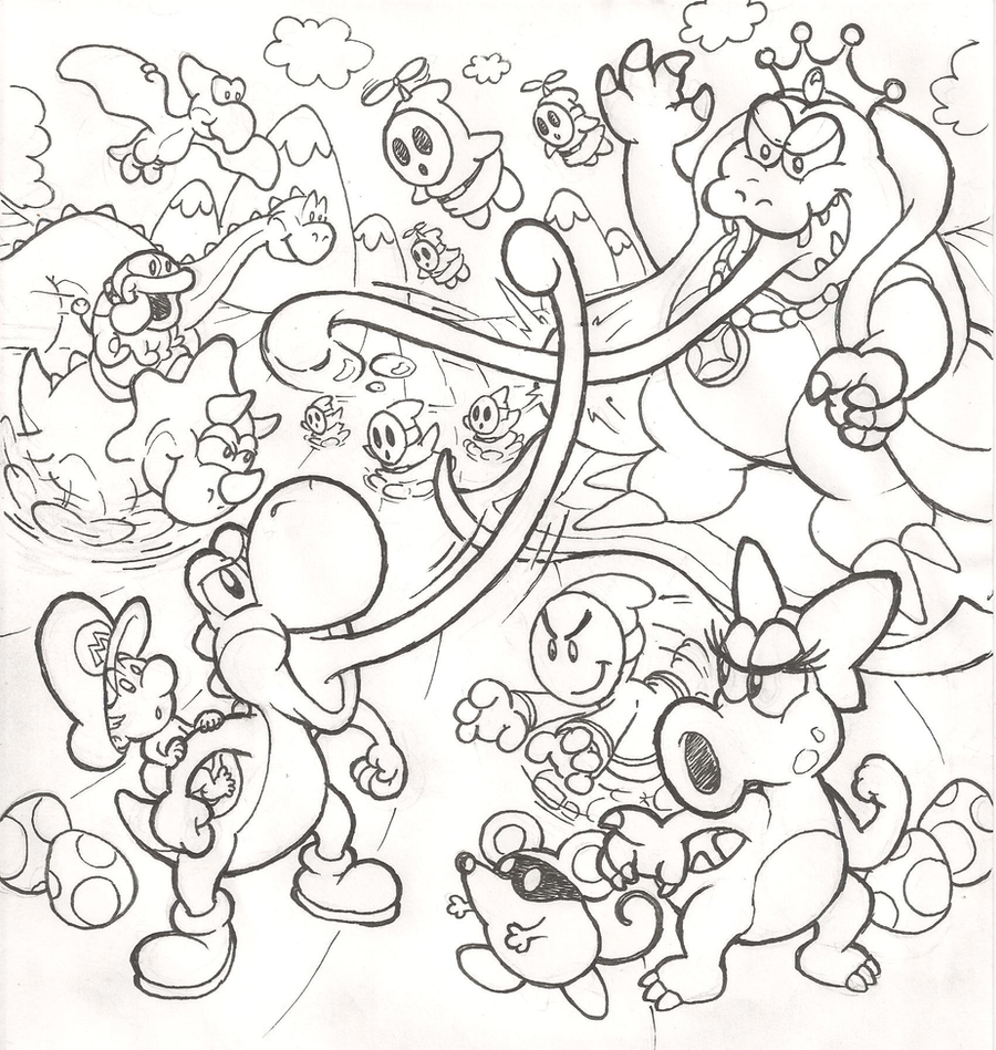 mario coloring pages yoshi - yoshi 39 s island dream sequel by mattdog1000000 on deviantart
