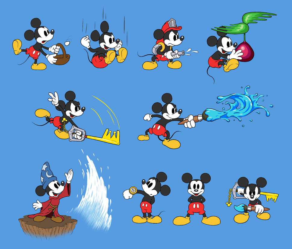 Mickey Mouse Super Smash Bros. (white face alt) by mattdog1000000